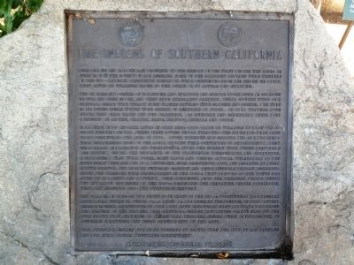 The Indians of Southern California Marker image. Click for full size.