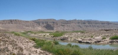 Boquillas Canyon Panorama image. Click for full size.