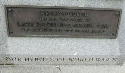Our Heroes of World War II Marker image. Click for full size.