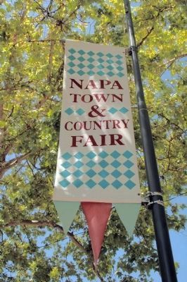 Napa Town & Country Fair Flagpole Banner image. Click for full size.