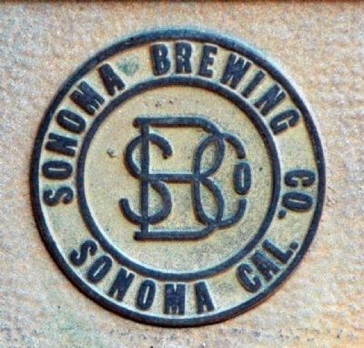 Sonoma Brewing Company Logo, Plaque Detail image. Click for full size.