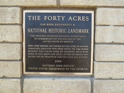 The Forty Acres Marker image. Click for full size.
