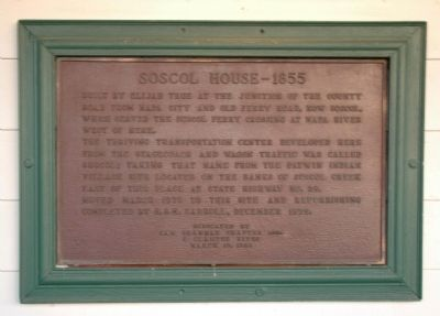Soscol House Marker image. Click for full size.