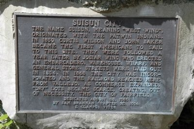 Suisun City Plaque image. Click for full size.