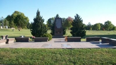 Dr. James Naismith Memorial image. Click for full size.