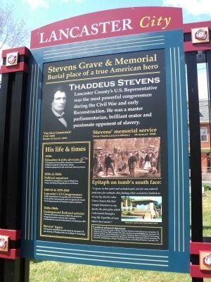 Stevens Grave & Memorial Marker<br> (East Side) image. Click for full size.