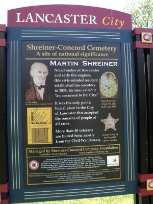 Shreiner-Concord Cemetery Marker (West Side) image. Click for full size.
