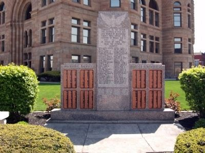 Full View - - Blackford County W.W. II Honor Roll Marker image. Click for full size.