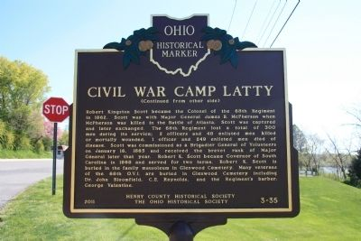 Civil War Camp Latty Marker image. Click for full size.