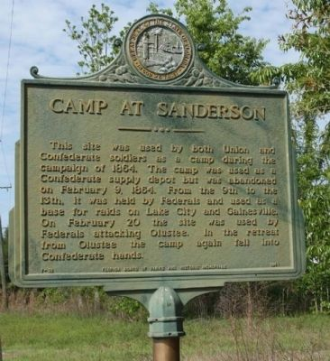 Camp at Sanderson Marker image. Click for full size.