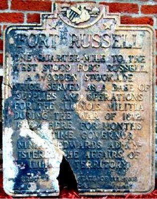Fort Russell Marker image. Click for full size.