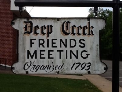 Deep Creek Friends Meeting sign image. Click for full size.