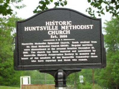 Historic Huntsville Methodist Church Marker image. Click for full size.