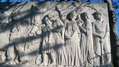 The Munn Pioneer Memorial Relief image. Click for full size.