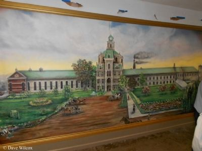 Mural of First Michigan State Prison - 1839 image. Click for full size.