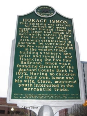 Horace Ismon Marker image. Click for full size.