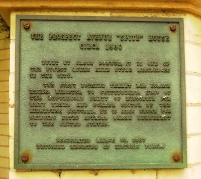 "The Prospect Avenue ""Spite"" House Marker image. Click for full size."