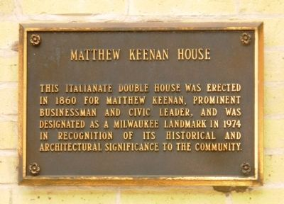 Matthew Keenan House Marker image. Click for full size.
