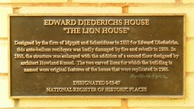 Edward Diederichs House Marker image. Click for full size.