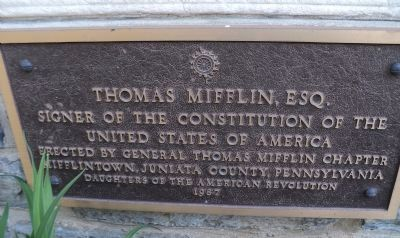 Thomas Mifflin, Esq. Marker image. Click for full size.