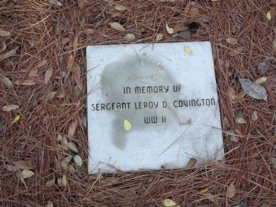 In memory of Sergeant Leroy D. Covington WWII image. Click for full size.