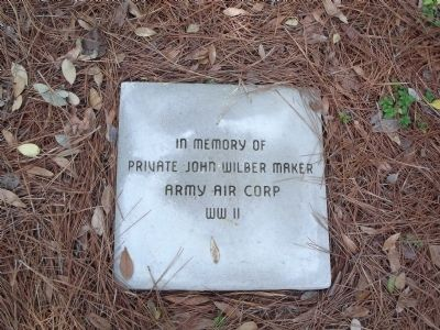In memory of Private John Wilber Maker Army Air Corp WWII image. Click for full size.