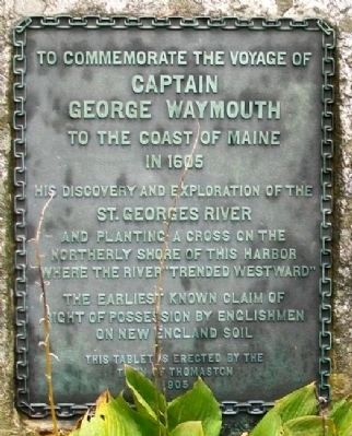 The Voyage of Captain George Waymouth Marker image. Click for full size.