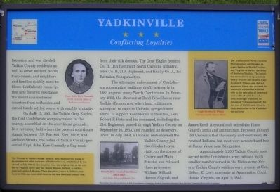 Yadkinville Marker image. Click for full size.