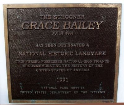The Schooner Grace Bailey NHL Marker image. Click for full size.