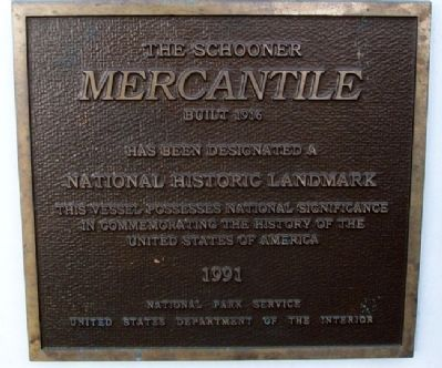 The Schooner Mercantile NHL Marker image. Click for full size.