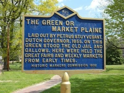 The Green or Market Plaine Marker image. Click for full size.