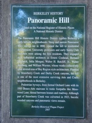 Panoramic Hill Marker image. Click for full size.