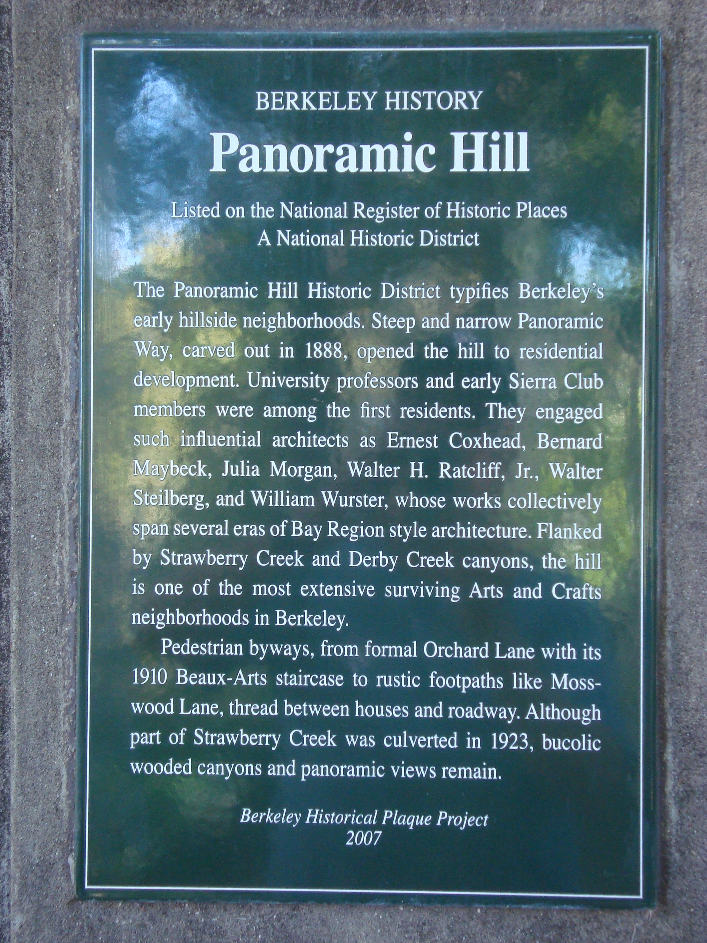 Panoramic Hill Marker