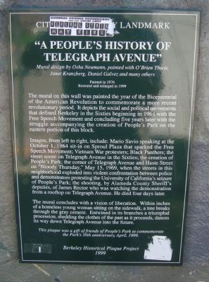 """A People's History of Telegraph Avenue"" Marker image. Click for full size."