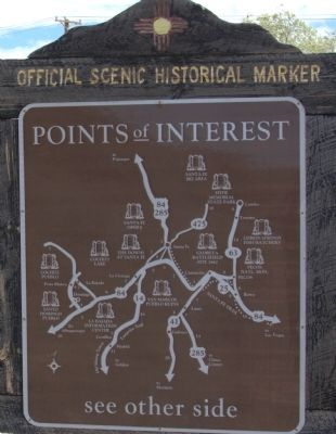 Back of Cerrillos Marker image. Click for full size.