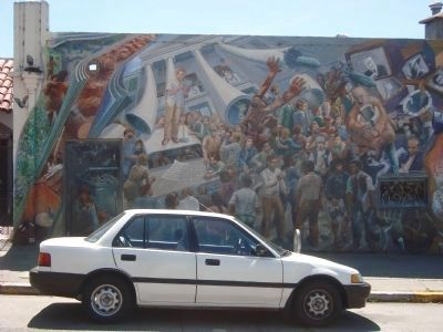"""A People's History of Telegraph Avenue"" Mural, #1 (left to right) image. Click for full size."