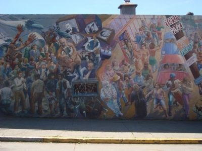 """A People's History of Telegraph Avenue"" Mural, #2 (left to right) image. Click for full size."