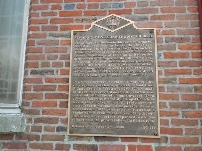 New Castle United Methodist Church Marker image. Click for full size.