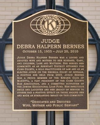 Judge Debra Halpern Bernes Marker image. Click for full size.