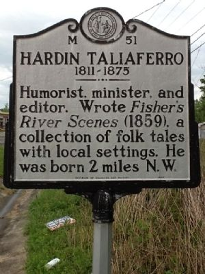 Hardin Taliaferro Marker image. Click for full size.