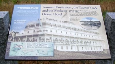 Summer Rusticators, the Tourist Trade and the Waukeag House Hotel Marker image. Click for full size.