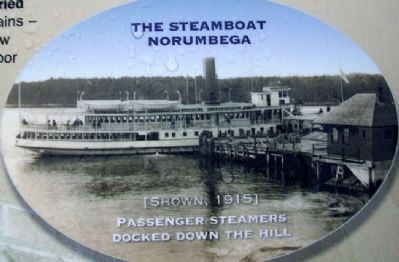 Photo of Steamboat Norumbega on Waukeag House Hotel Marker image. Click for full size.