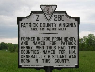 Patrick County Marker image. Click for full size.