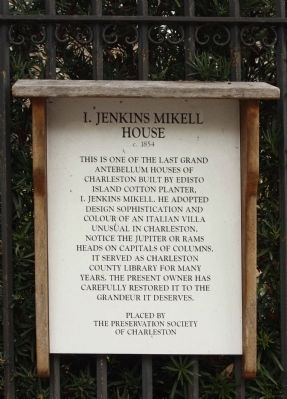 I. Jenkins Mikell House Marker image. Click for full size.