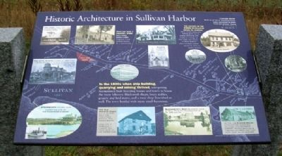 Historic Architecture in Sullivan Harbor Marker image. Click for full size.