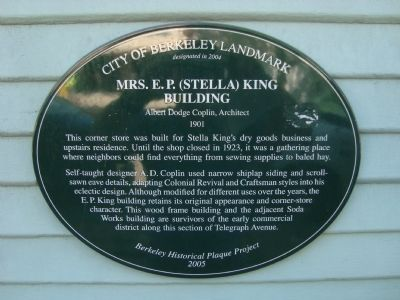 Mrs. E.P. (Stella) King Building Marker image. Click for full size.