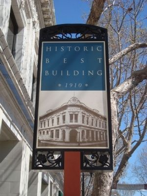 Historic Best Building Marker image. Click for full size.