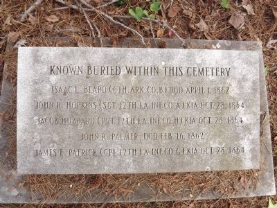 Known Buried Marker image. Click for full size.