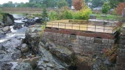 Machias River Mill Foundation at Bad Little Falls image. Click for full size.