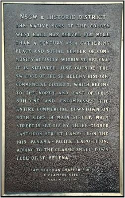 NSGW & Historic District Plaque image. Click for full size.